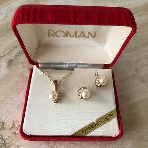 NEW Roman Necklace/Earring Boxed Set